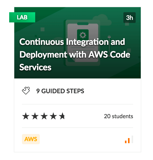 Continuous Integration and Deployment with AWS Code Services Lab