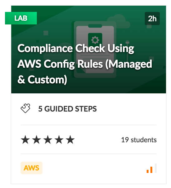 Compliance Check Using AWS Config Rules (Managed & Custom) Lab