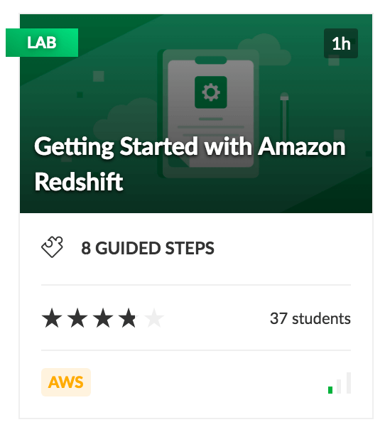 Getting Started with Amazon Redshift - Cloud Academy