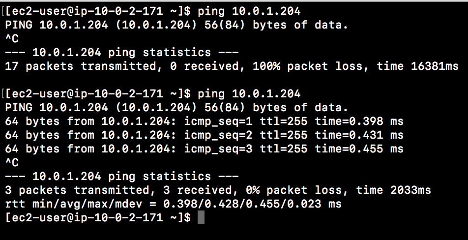 After the All ICMP rule, with the source the id of my private subnetwe are able to ping the private instance. You can use the same method to add an ssh rule to allow ssh connections in your private instance.