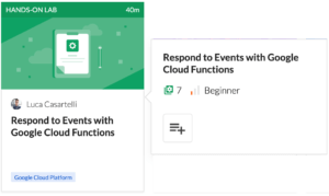 Hands-on Lab for Google Cloud Functions Events