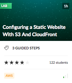 Configuring a Static Website with S3 and CloudFront