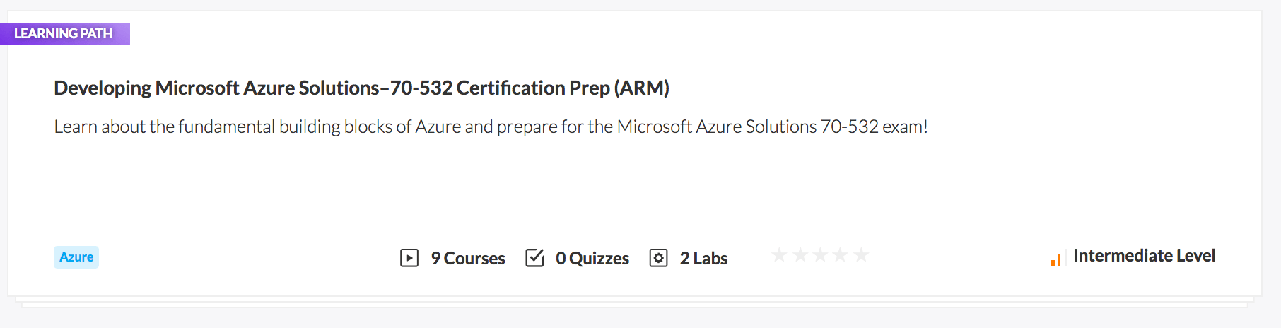 Developing Microsoft Azure Solutions - 70-532 Certification