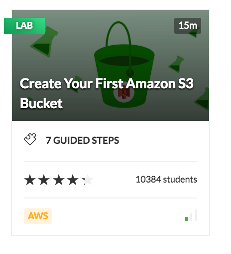 Create your First Amazon S3 Bucket