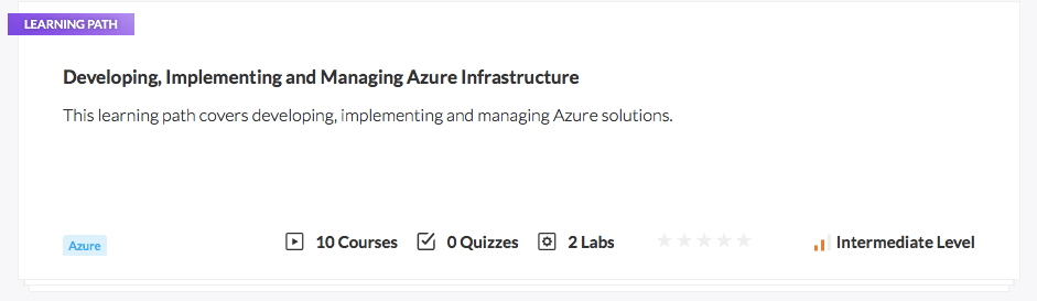 Developing Implementing and Managing Azure Infrastructure
