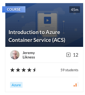 Introduction to Azure Container Service