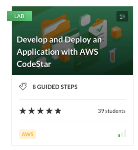 Develop and Deploy an Application with AWS CodeStar