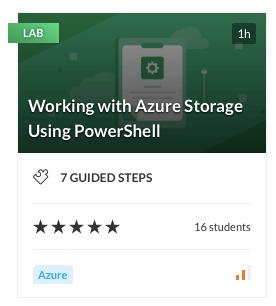 Working with Azure Storage Using PowerShell