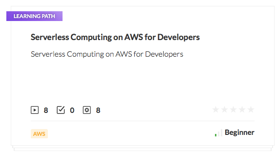 Serverless Computing on AWS for Developers