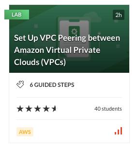 Set Up VPC Peering between Amazon Virtual Private Cloud (VPCs)