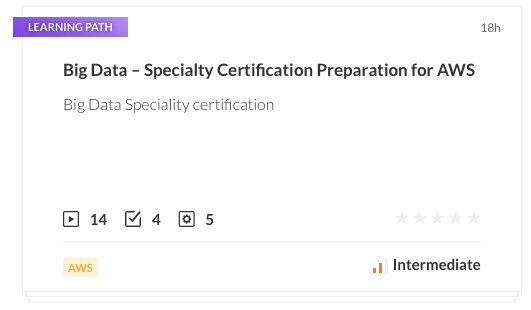 Big Data Specialty Certification Preparation for AWS