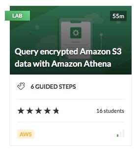 Query encrypted Amazon S3 data with Amazon Athena