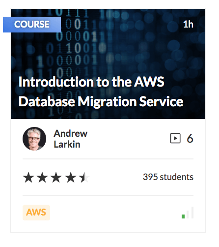 Introduction to the AWS Database Migration Service