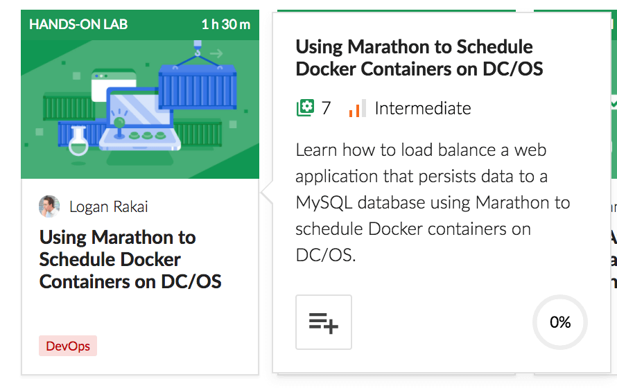 Use Marathon to Schedule Docker Containers on DC/OS