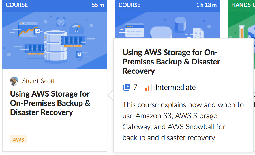 Using AWS Storage for On-Premises Backup & Disaster Recovery