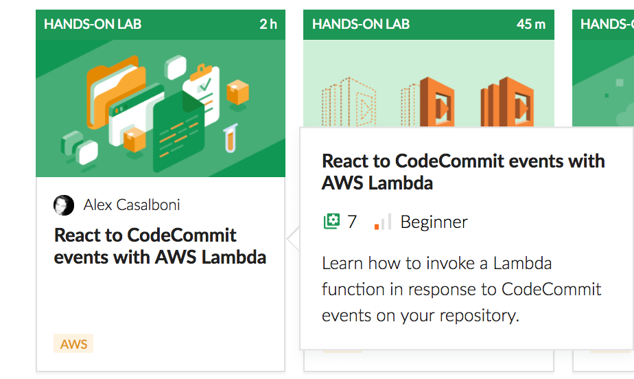 React to CodeCommit events with AWS Lambda Hands-on Lab