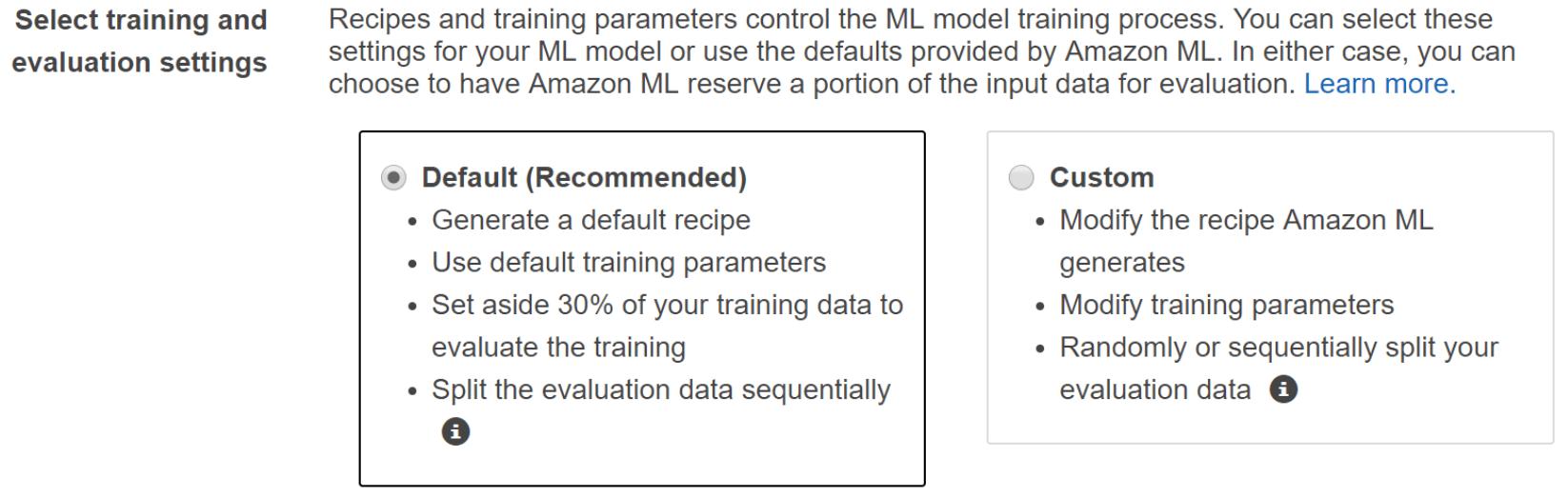 Amazon Machine Learning Model