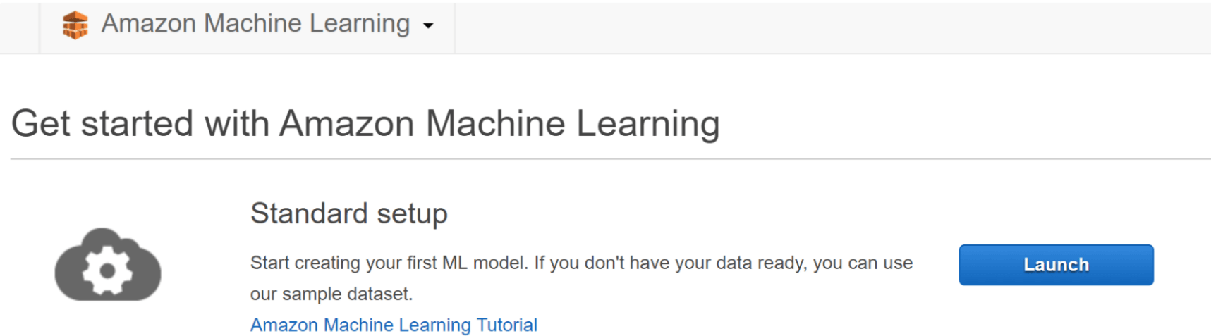 Getting Started with Amazon Machine Learning