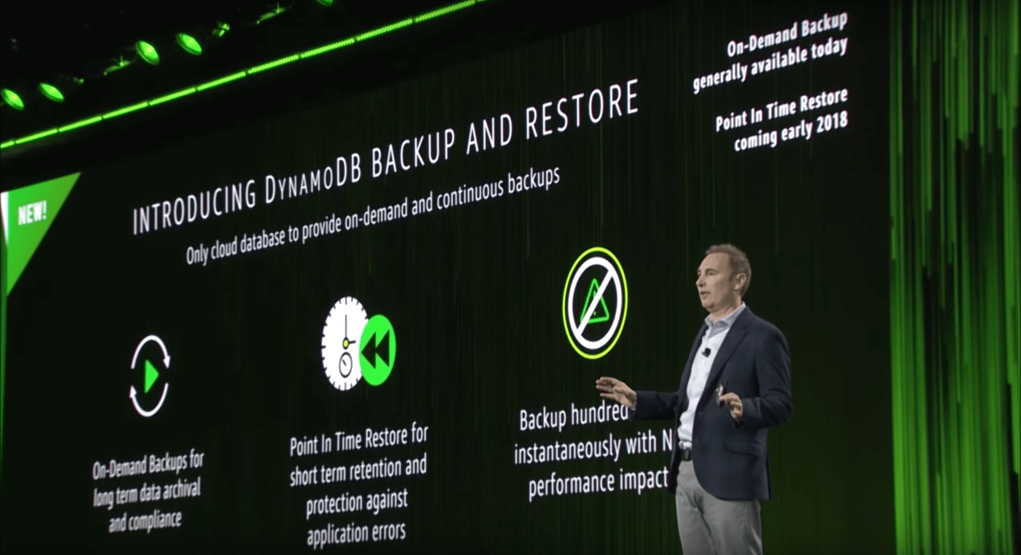 AWS Announcements at re:Invent 2017 - Introducing DynamoDB Backup and Restore