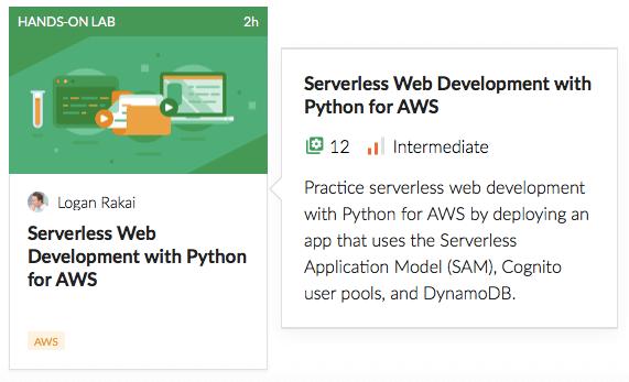 Serverless Web Development with Python for AWS