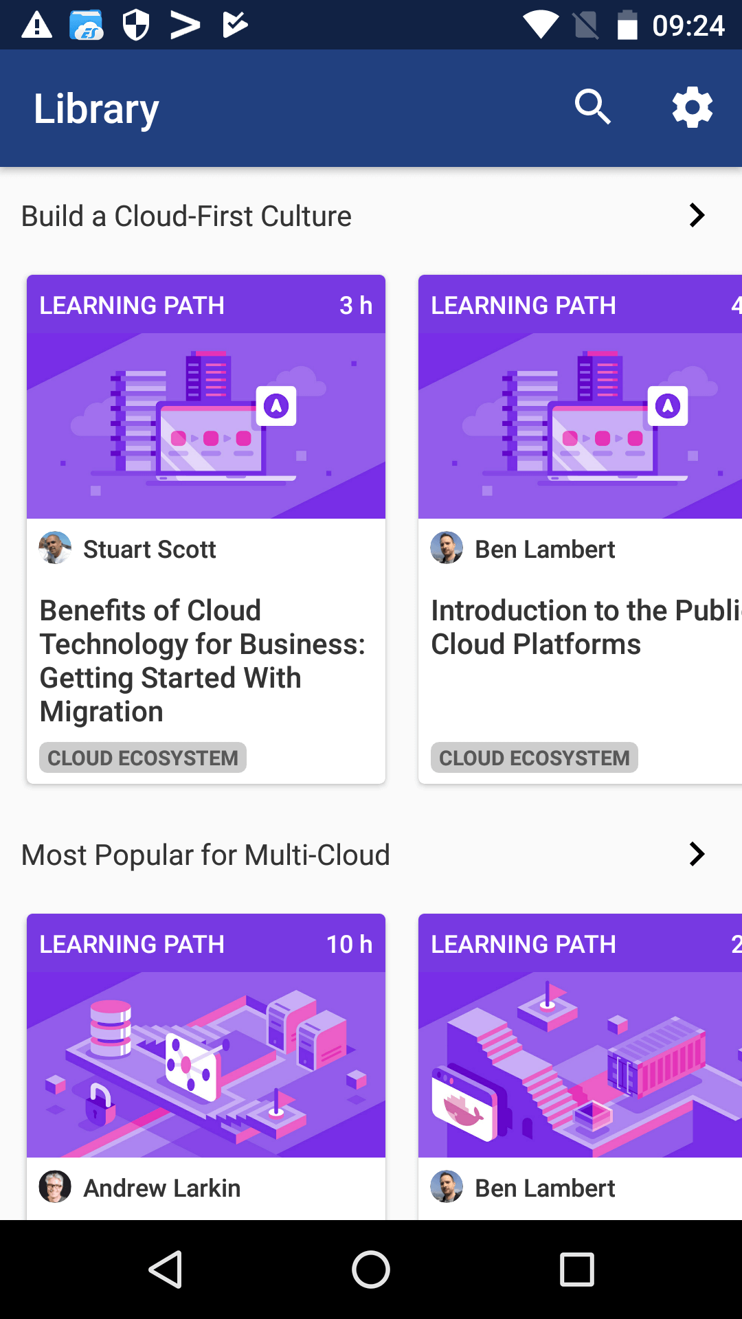 Cloud Academy Content Library