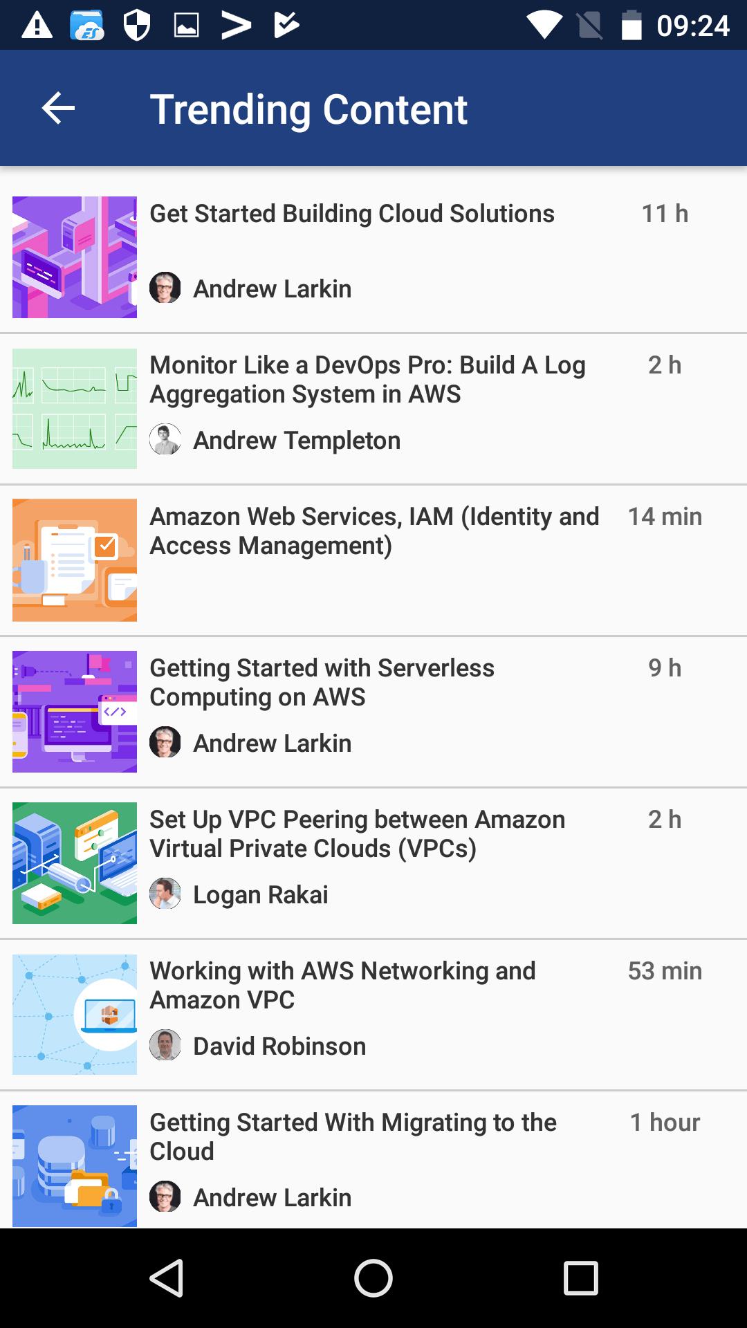 Cloud Academy Trending Content