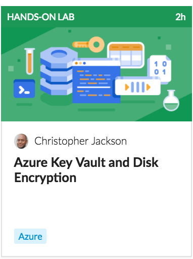 Azure key vault and disk encryption