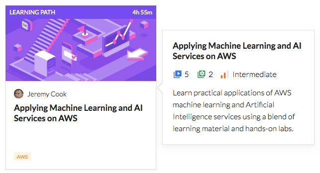 Applying Machine Learning and AI Services on AWS