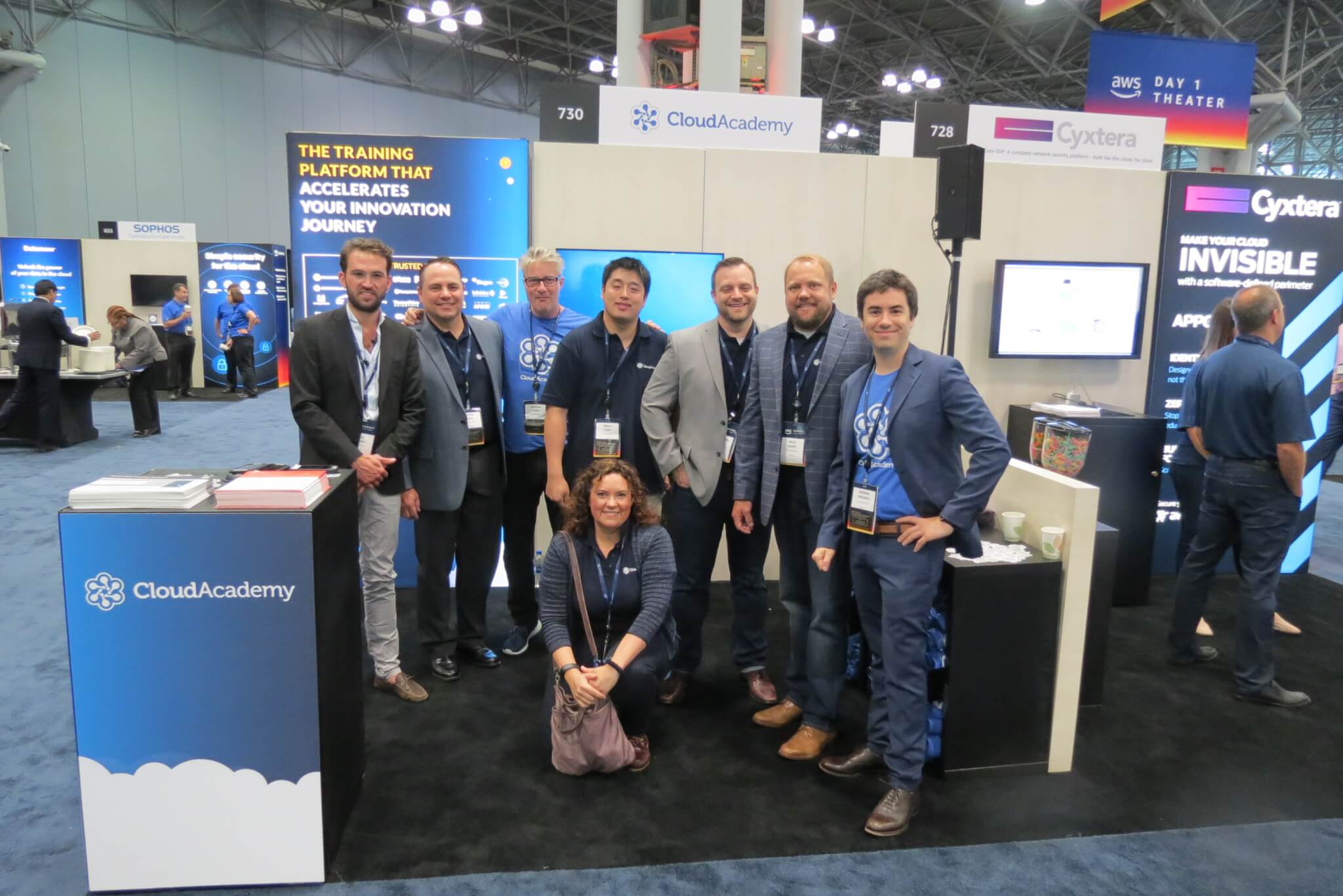 Cloud Academy Team at AWS Summit NYC