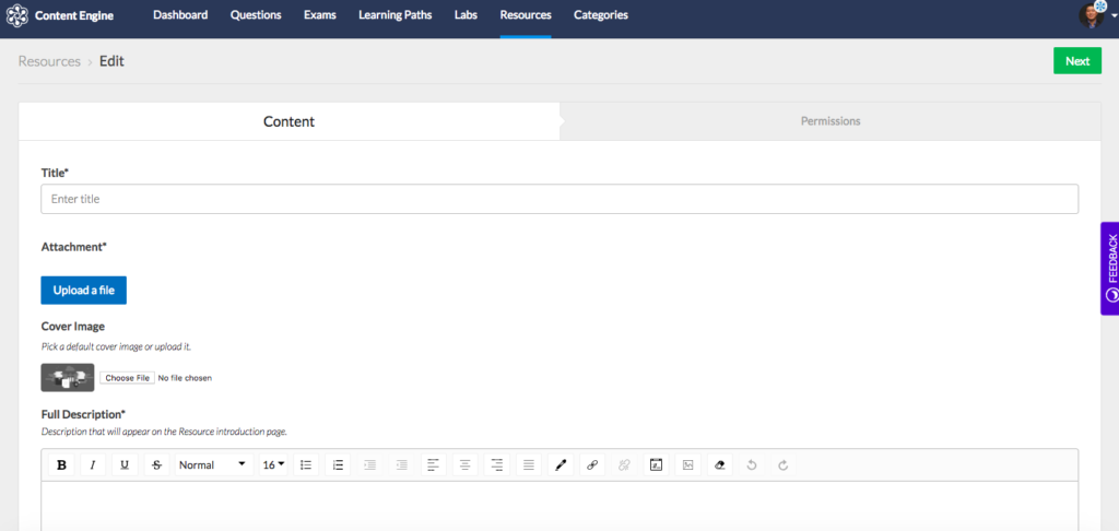 """Customize your learning by uploading custom content to Content Engine on Custom Resources. Custom Resources supports a variety of file types including PDFs, images, and audio.<span style=""""font-size: 16px;""""></span>"""