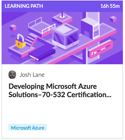 Learning Path Developing Microsoft Azure Solutions Certification