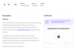 Track Continuing Professional Education Credits on Cloud Academy