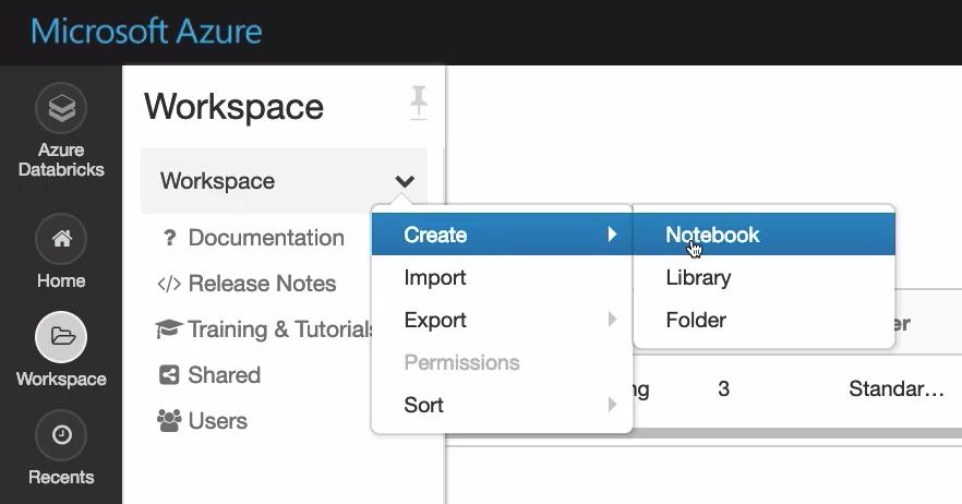 Create Azure Databricks Notebook