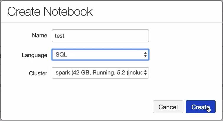 Create Apache Spark Notebook