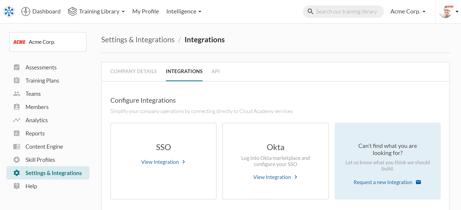 Settings and integrations