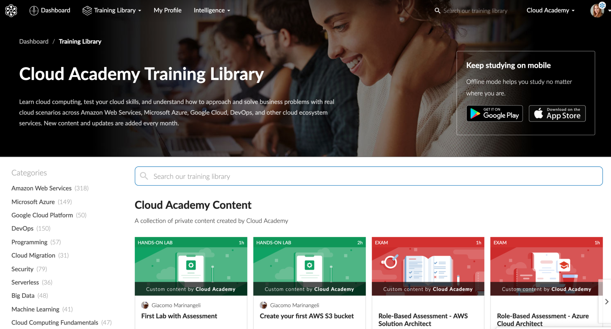 Cloud Academy Training Library