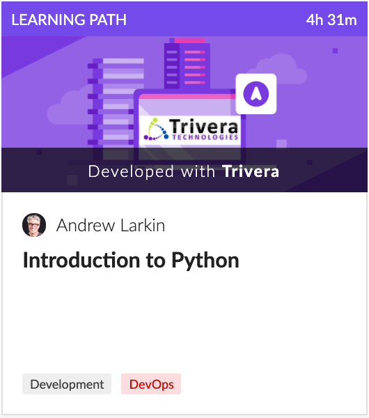 Cloud Academy Introduction to Python