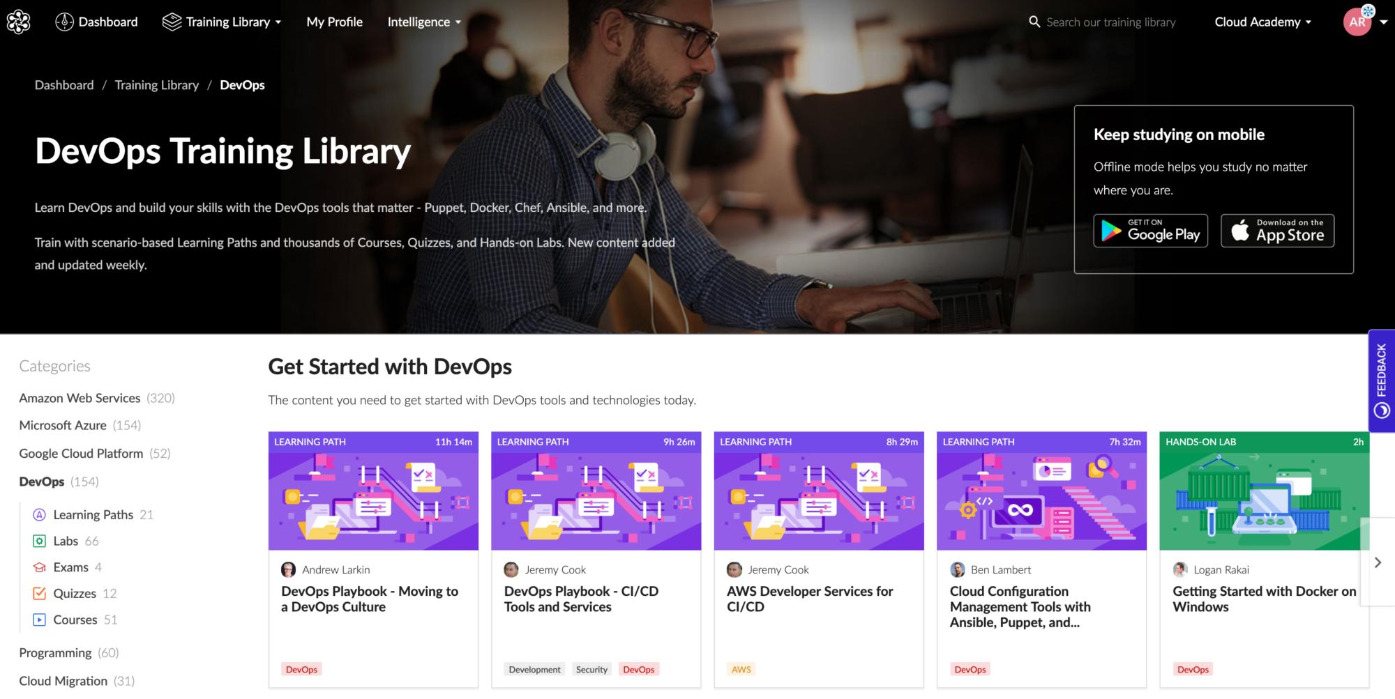 Cloud Academy DevOps Courses
