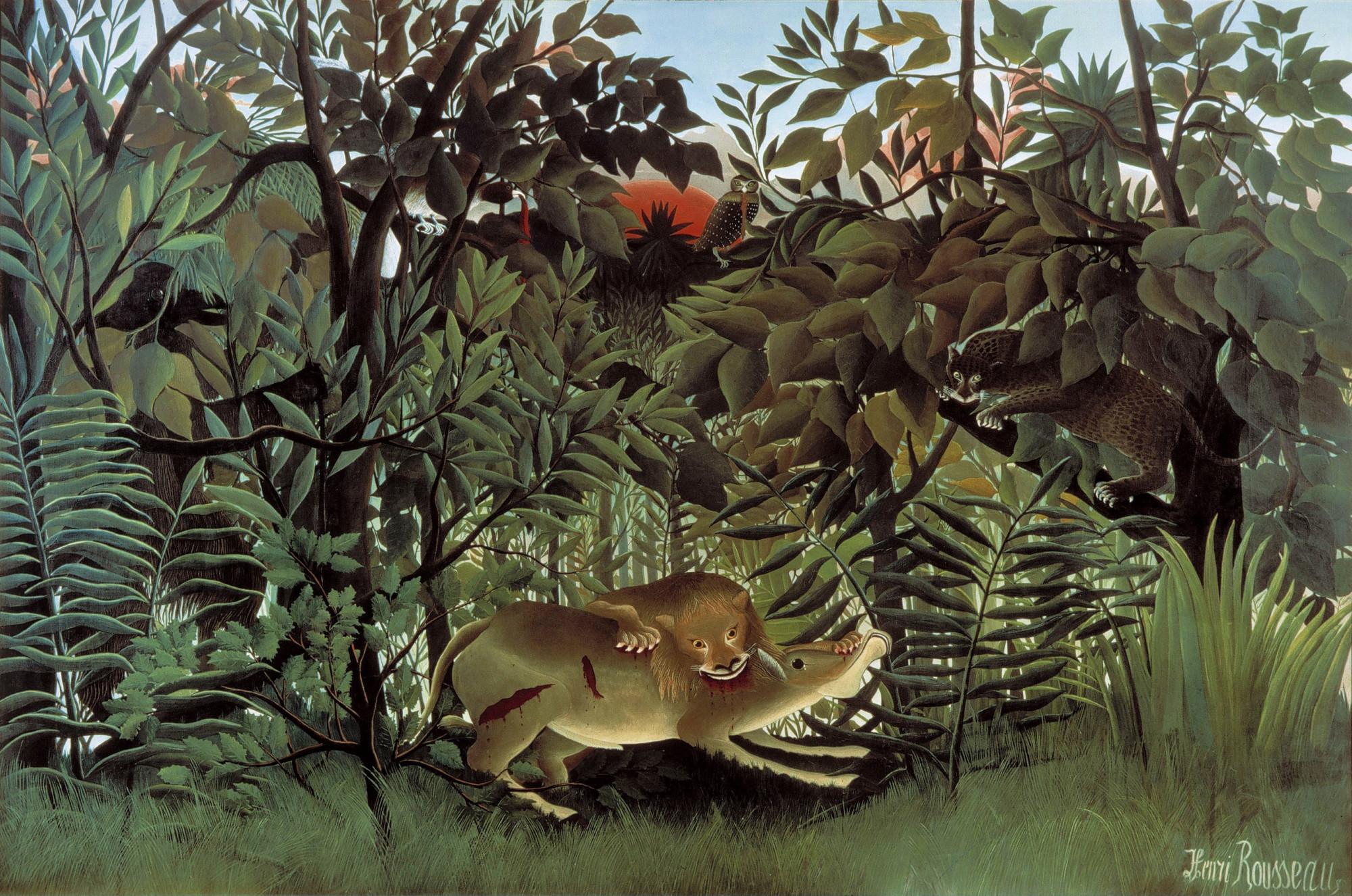 Public domain art of a jungle scene