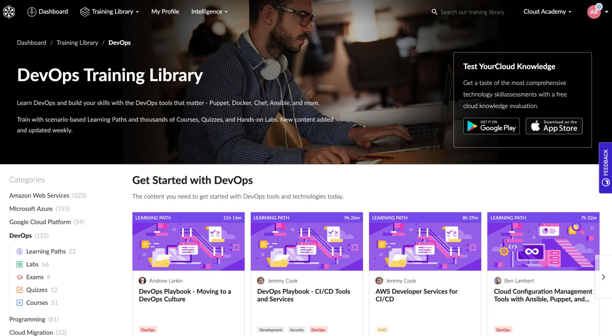 Cloud Academy DevOps Training Library