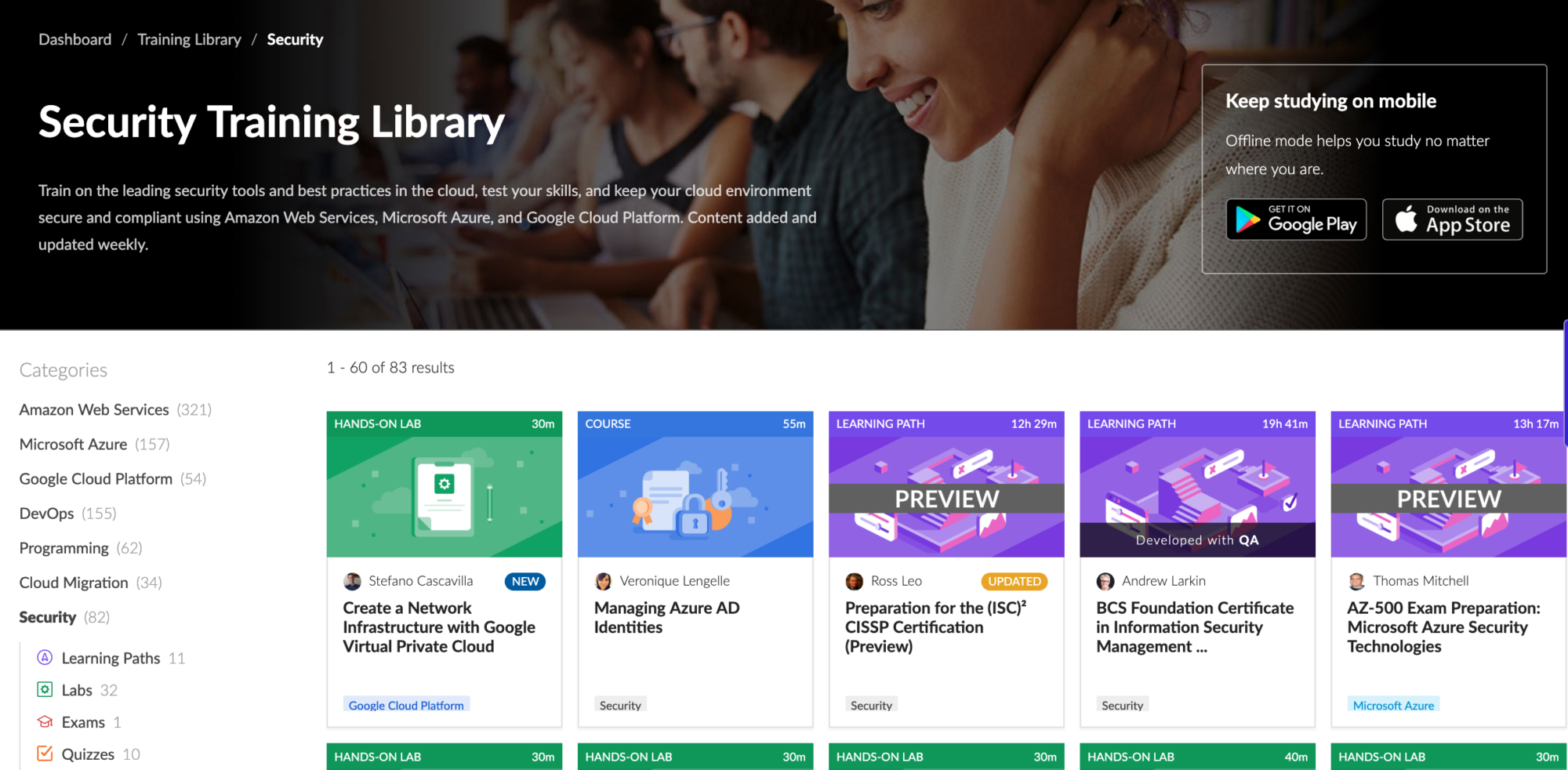 Cloud Academy Security Training Library