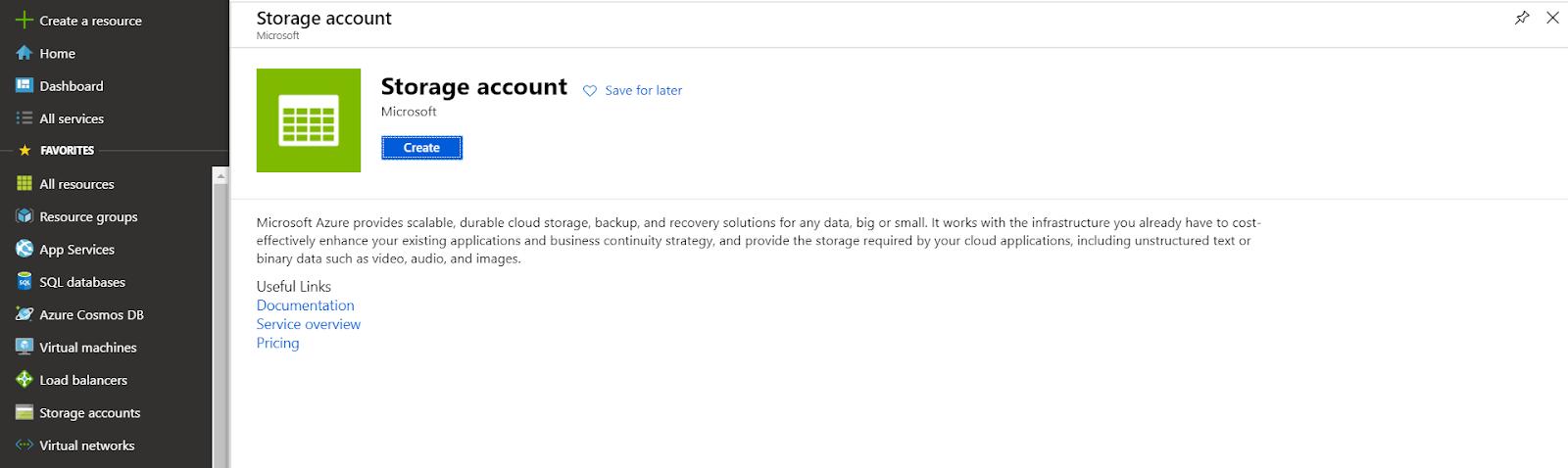 Microsoft Storage Account