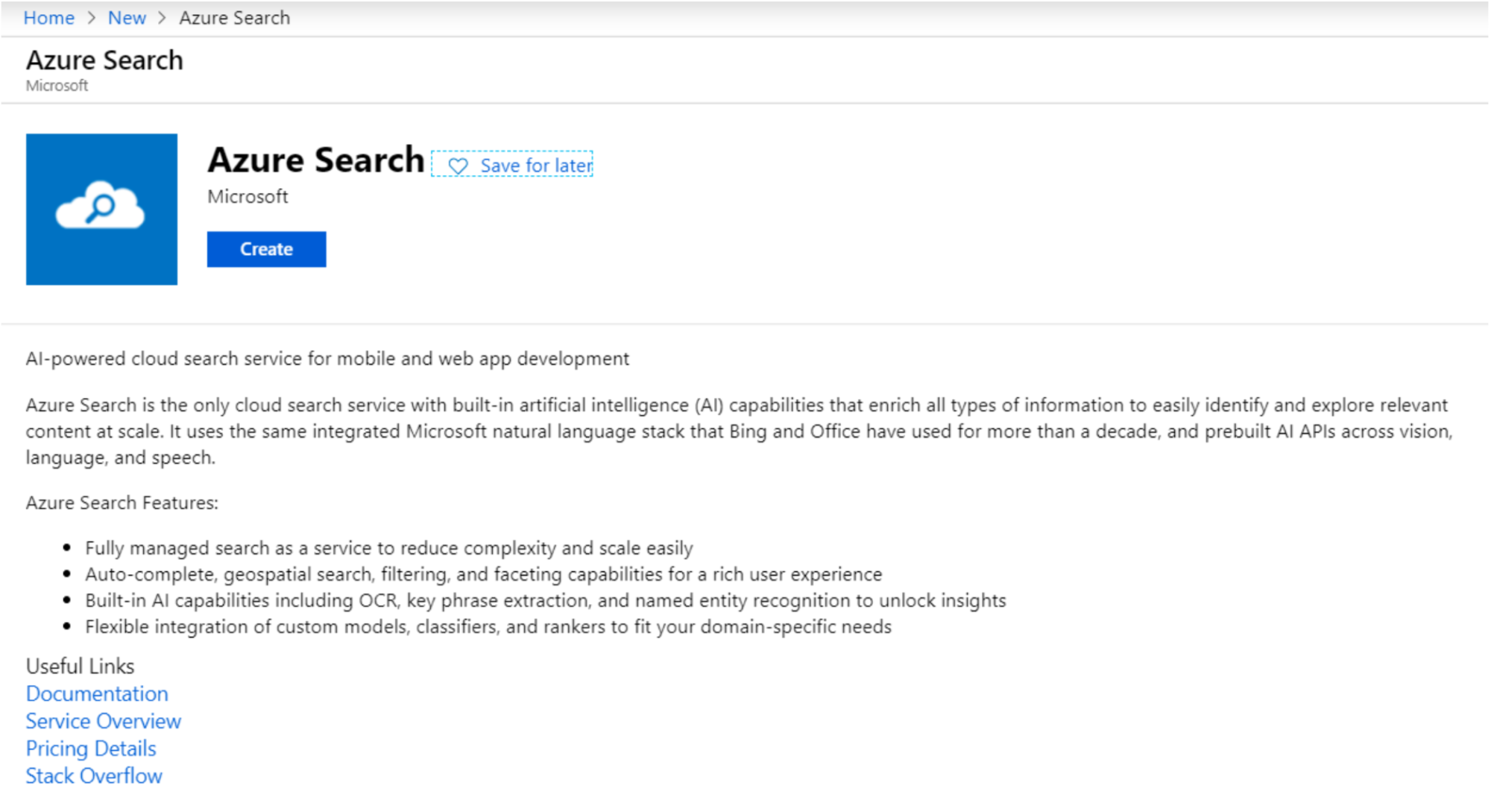 Enable Azure Search