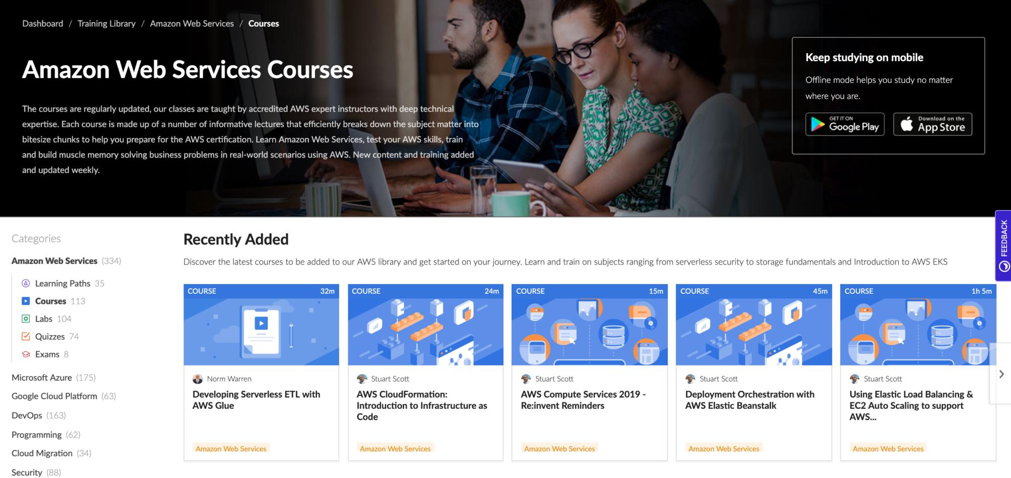 Cloud Academy AWS Courses