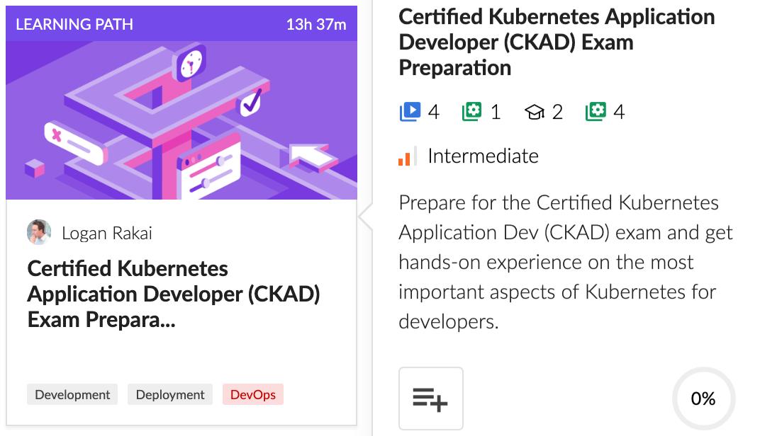 Cloud Academy Certified Kubernetes Application Developer (CKAD) Exam Preparation