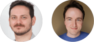 Giacomo Marinangeli and Logan Rakai headshots