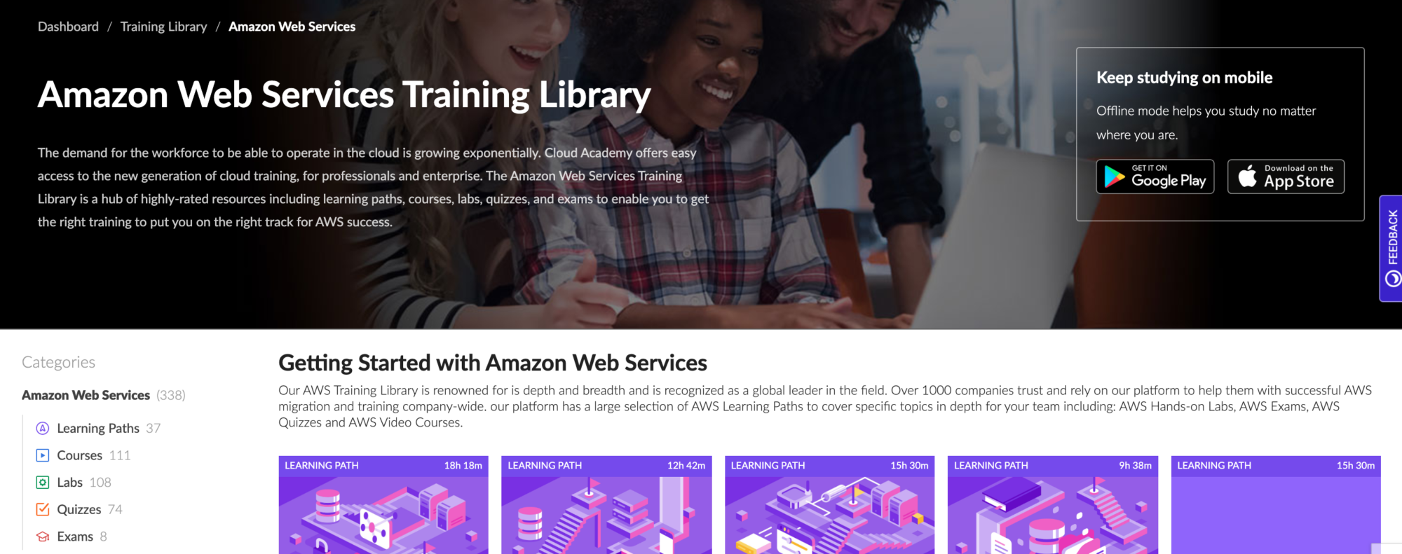 Cloud Academy AWS Training Library