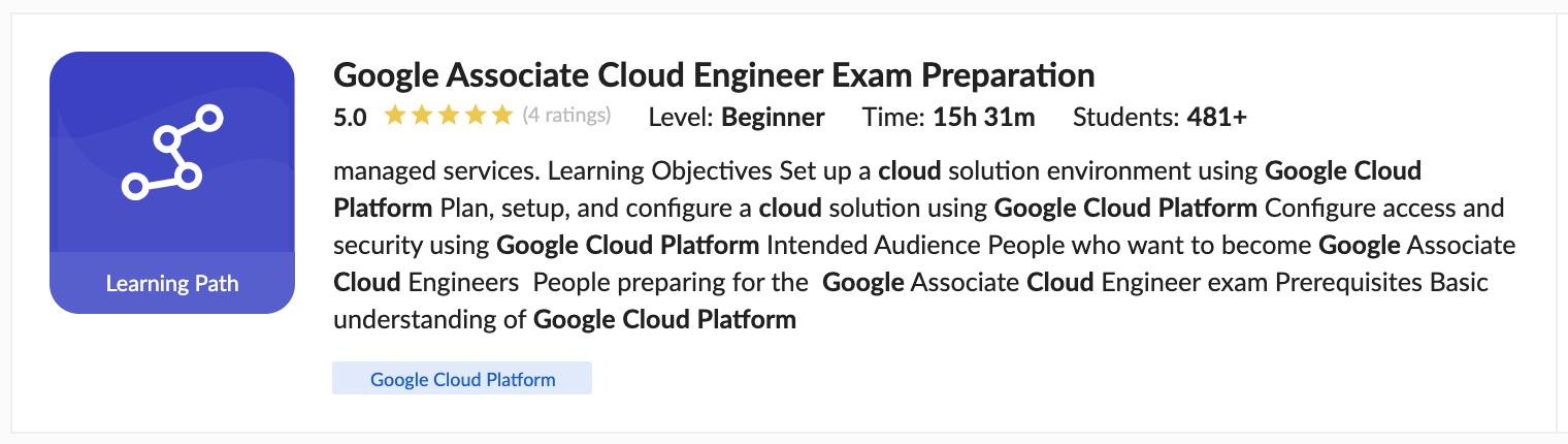 Google Associate Cloud Engineer Exam Preparation