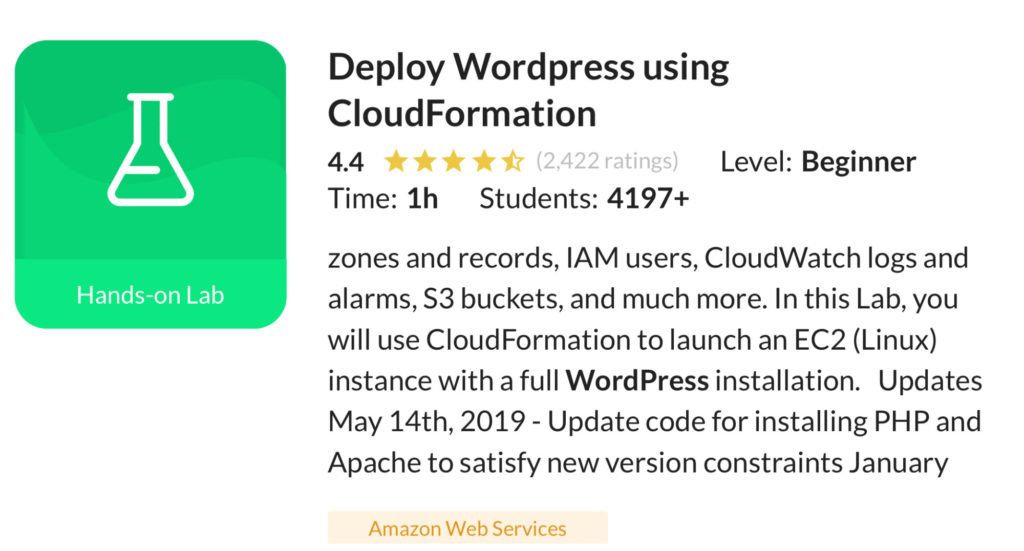 Deploy WordPress using CloudFormation