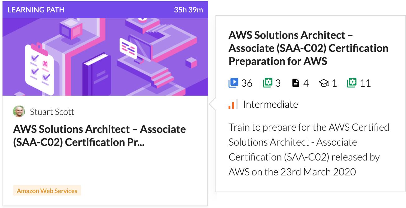 Cloud Academy SAA-C02 AWS Solutions Architect Associate Learning Path